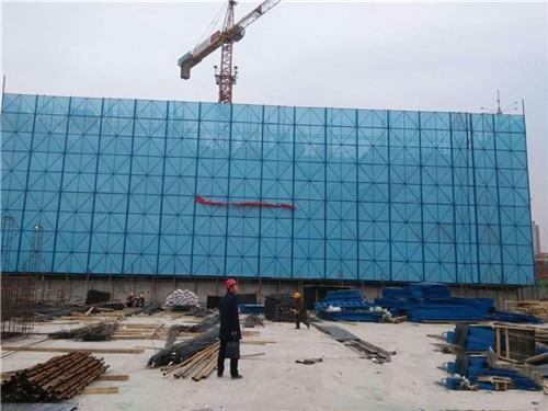蓝色爬架防护网施工